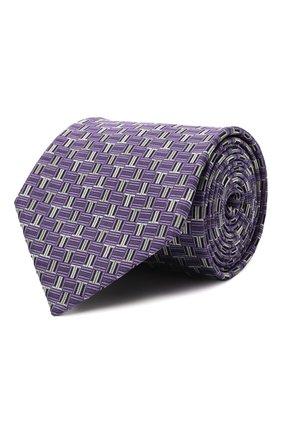 Мужской шелковый галстук LANVIN сиреневого цвета, арт. 3203/TIE   Фото 1 (Материал: Шелк, Текстиль; Принт: С принтом)
