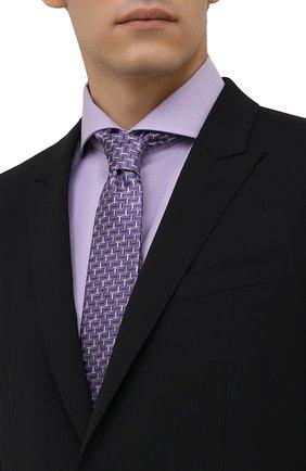 Мужской шелковый галстук LANVIN сиреневого цвета, арт. 3203/TIE   Фото 2 (Материал: Шелк, Текстиль; Принт: С принтом)