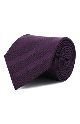 Мужской шелковый галстук LANVIN фиолетового цвета, арт. 1305/TIE   Фото 1 (Материал: Шелк, Текстиль; Принт: С принтом)