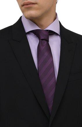 Мужской шелковый галстук LANVIN фиолетового цвета, арт. 1305/TIE   Фото 2 (Материал: Шелк, Текстиль; Принт: С принтом)