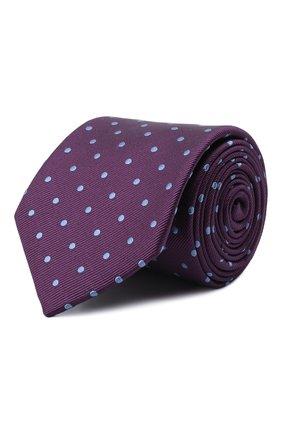 Мужской шелковый галстук LANVIN фиолетового цвета, арт. 1303/TIE   Фото 1 (Материал: Шелк, Текстиль; Принт: С принтом)