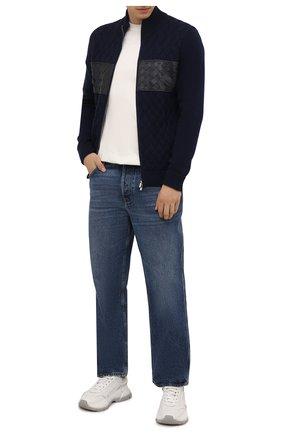 Мужской кашемировый кардиган IL BORGO CASHMERE темно-синего цвета, арт. 57-230G0 | Фото 2 (Материал внешний: Шерсть, Кашемир; Рукава: Длинные; Длина (для топов): Стандартные; Мужское Кросс-КТ: Кардиган-одежда; Стили: Кэжуэл)