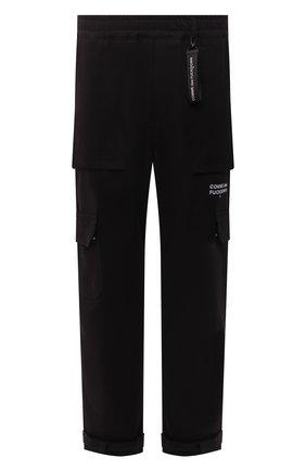 Мужские хлопковые брюки-карго COMME DES FUCKDOWN черного цвета, арт. CDFU1382   Фото 1 (Материал внешний: Хлопок; Длина (брюки, джинсы): Стандартные; Случай: Повседневный; Силуэт М (брюки): Карго; Стили: Гранж)
