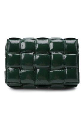 Женская сумка padded cassette BOTTEGA VENETA темно-зеленого цвета, арт. 591970/V13Y1 | Фото 1 (Материал: Натуральная кожа; Ремень/цепочка: На ремешке; Сумки-технические: Сумки через плечо; Размер: medium)