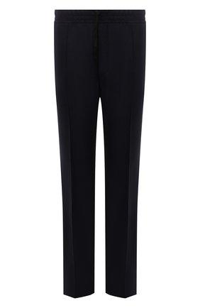 Мужские брюки из шерсти и кашемира TOM FORD темно-синего цвета, арт. 228R01/732D42 | Фото 1 (Материал внешний: Шерсть; Случай: Повседневный; Стили: Кэжуэл; Длина (брюки, джинсы): Стандартные)