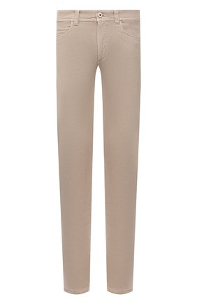 Мужские джинсы LORO PIANA бежевого цвета, арт. FAG4511 | Фото 1 (Материал подклада: Хлопок; Материал внешний: Хлопок; Кросс-КТ: Деним; Силуэт М (брюки): Прямые; Стили: Кэжуэл; Длина (брюки, джинсы): Стандартные)