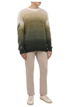 Мужские джинсы LORO PIANA бежевого цвета, арт. FAG4511 | Фото 2 (Материал подклада: Хлопок; Материал внешний: Хлопок; Кросс-КТ: Деним; Силуэт М (брюки): Прямые; Стили: Кэжуэл; Длина (брюки, джинсы): Стандартные)