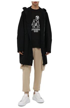 Мужская хлопковая футболка 2 moncler 1952 MONCLER GENIUS черного цвета, арт. G2-092-8C000-08-8390T | Фото 2 (Материал внешний: Хлопок; Длина (для топов): Стандартные; Рукава: Короткие; Принт: С принтом)