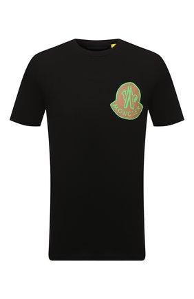 Мужская хлопковая футболка 2 moncler 1952 MONCLER GENIUS черного цвета, арт. G2-092-8C000-09-8390T | Фото 1 (Рукава: Короткие; Длина (для топов): Стандартные; Материал внешний: Хлопок; Принт: С принтом)
