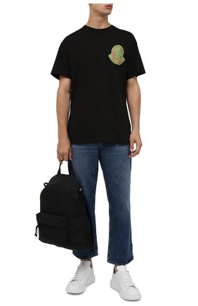 Мужская хлопковая футболка 2 moncler 1952 MONCLER GENIUS черного цвета, арт. G2-092-8C000-09-8390T | Фото 2 (Рукава: Короткие; Длина (для топов): Стандартные; Материал внешний: Хлопок; Принт: С принтом)