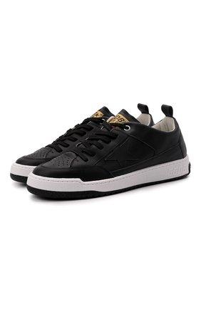 Мужские кожаные кеды yeah GOLDEN GOOSE DELUXE BRAND черного цвета, арт. GMF00130.F002195 | Фото 1 (Материал внутренний: Натуральная кожа; Подошва: Массивная)