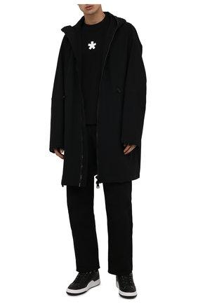 Мужские кожаные кеды yeah GOLDEN GOOSE DELUXE BRAND черного цвета, арт. GMF00130.F002195 | Фото 2 (Материал внутренний: Натуральная кожа; Подошва: Массивная)