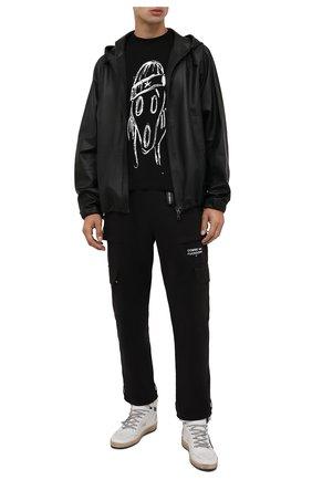 Мужские кожаные кеды skystar GOLDEN GOOSE DELUXE BRAND белого цвета, арт. GMF00230.F002190 | Фото 2 (Материал внутренний: Натуральная кожа; Подошва: Массивная)