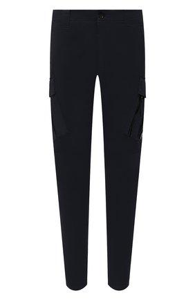 Мужские хлопковые брюки-карго C.P. COMPANY темно-синего цвета, арт. 11CMPA226A-005529G | Фото 1 (Материал внешний: Хлопок; Силуэт М (брюки): Карго; Случай: Повседневный; Стили: Кэжуэл; Длина (брюки, джинсы): Стандартные)