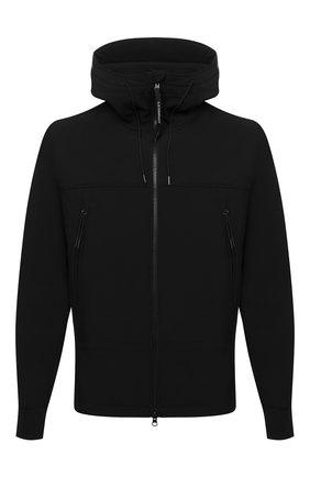 Мужская куртка C.P. COMPANY черного цвета, арт. 11CM0W002A-006097A | Фото 1 (Материал внешний: Синтетический материал; Длина (верхняя одежда): Короткие; Материал подклада: Хлопок; Рукава: Длинные; Кросс-КТ: Куртка, Ветровка; Стили: Кэжуэл)