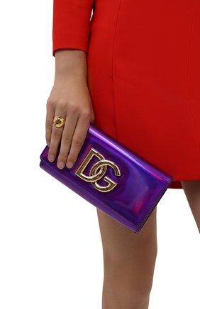 Женский клатч 3.5 DOLCE & GABBANA фиолетового цвета, арт. BB7082/AQ495 | Фото 2 (Материал: Натуральная кожа; Ремень/цепочка: На ремешке; Размер: small; Женское Кросс-КТ: Клатч-клатчи, Вечерняя сумка)