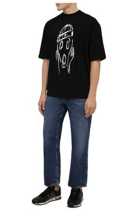 Мужские кожаные кроссовки eric PREMIATA черного цвета, арт. ERIC/VAR5370 | Фото 2 (Материал внутренний: Натуральная кожа; Стили: Гранж; Подошва: Массивная)