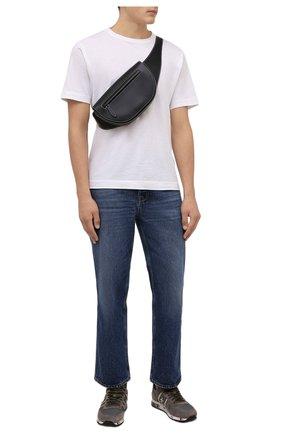 Мужские комбинированные кроссовки eric PREMIATA серого цвета, арт. ERIC/VAR5378 | Фото 2 (Материал внешний: Текстиль; Материал внутренний: Натуральная кожа; Стили: Гранж; Подошва: Массивная)
