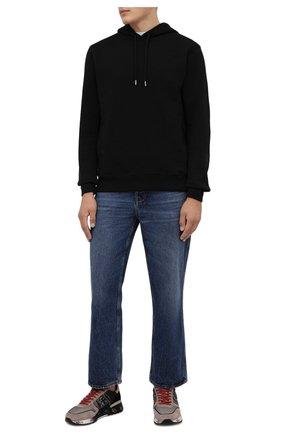 Мужские комбинированные кроссовки lander PREMIATA серого цвета, арт. LANDER/VAR5362 | Фото 2 (Подошва: Массивная; Материал внешний: Текстиль; Материал внутренний: Натуральная кожа; Стили: Гранж)
