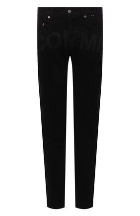 Мужские джинсы COMME DES FUCKDOWN черного цвета, арт. CDFU1381   Фото 1 (Материал внешний: Хлопок; Длина (брюки, джинсы): Стандартные; Кросс-КТ: Деним; Силуэт М (брюки): Узкие; Стили: Гранж)