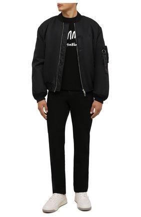 Мужская хлопковая футболка COMME DES FUCKDOWN черного цвета, арт. CDFU1358   Фото 2 (Длина (для топов): Стандартные; Материал внешний: Хлопок; Рукава: Короткие; Принт: С принтом; Стили: Гранж)