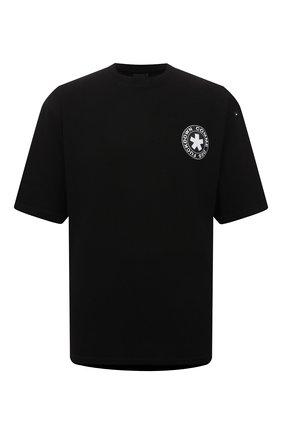 Мужская хлопковая футболка COMME DES FUCKDOWN черного цвета, арт. CDFU1320 | Фото 1 (Материал внешний: Хлопок; Рукава: Короткие, 3/4; Принт: С принтом; Длина (для топов): Стандартные)