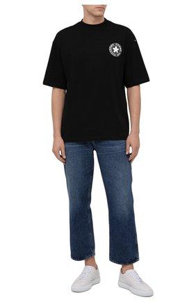 Мужская хлопковая футболка COMME DES FUCKDOWN черного цвета, арт. CDFU1320 | Фото 2 (Материал внешний: Хлопок; Рукава: Короткие, 3/4; Принт: С принтом; Длина (для топов): Стандартные)