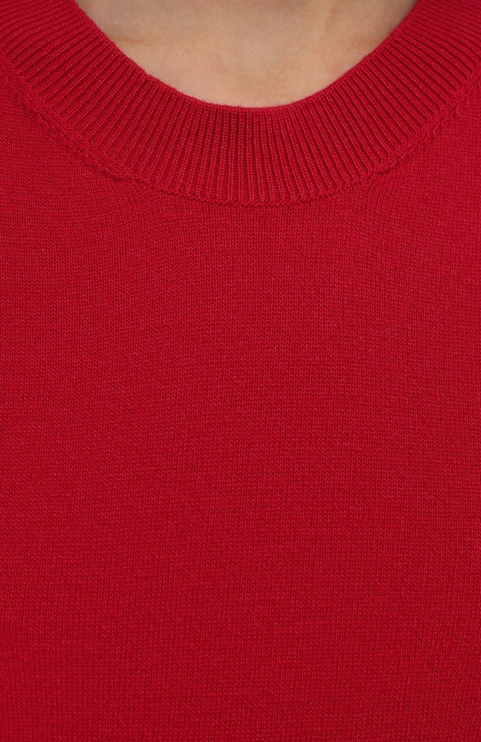 Женское платье из шерсти и кашемира LORENA ANTONIAZZI красного цвета, арт. I21107AM004/1906   Фото 5 (Материал внешний: Шерсть, Кашемир; Длина Ж (юбки, платья, шорты): Мини; Случай: Повседневный; Кросс-КТ: Трикотаж; Рукава: 3/4; Стили: Кэжуэл)