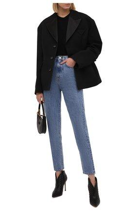 Женские кожаные ботильоны GIANVITO ROSSI черного цвета, арт. G05616.15RIC.NAPNER0   Фото 2 (Материал внутренний: Натуральная кожа; Каблук тип: Шпилька; Каблук высота: Высокий; Подошва: Плоская)