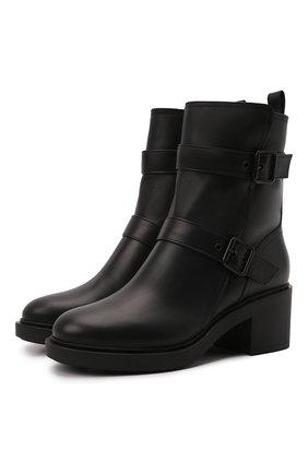 Женские кожаные сапоги GIANVITO ROSSI черного цвета, арт. G73235.45G0M.CLYNENE | Фото 1 (Материал утеплителя: Натуральный мех; Подошва: Платформа; Каблук высота: Средний; Женское Кросс-КТ: Без шнуровки-ботинки; Каблук тип: Устойчивый)