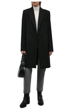 Женские кожаные сапоги GIANVITO ROSSI черного цвета, арт. G73235.45G0M.CLYNENE | Фото 2 (Материал утеплителя: Натуральный мех; Подошва: Платформа; Каблук высота: Средний; Женское Кросс-КТ: Без шнуровки-ботинки; Каблук тип: Устойчивый)