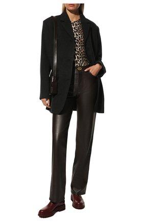 Женские кожаные ботинки GIANVITO ROSSI бордового цвета, арт. G73462.20G0M.CLNMERL | Фото 2 (Материал внутренний: Натуральная кожа; Женское Кросс-КТ: Челси-ботинки; Каблук высота: Низкий; Подошва: Платформа)