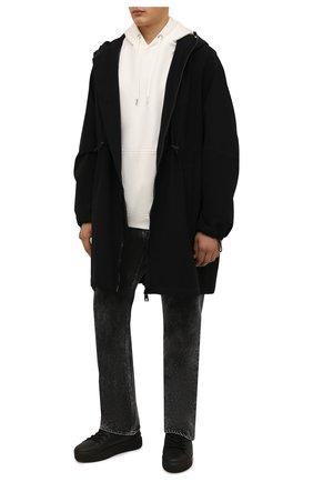 Мужские кожаные кеды VIC MATIE черного цвета, арт. 1W3000U.V02CBIB001 | Фото 2 (Материал внутренний: Натуральная кожа; Подошва: Массивная)