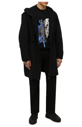 Мужские кожаные кеды VIC MATIE черного цвета, арт. 1W3003U.V02W280101 | Фото 2 (Материал утеплителя: Натуральный мех; Подошва: Массивная)