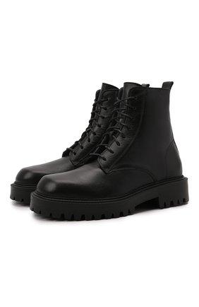 Мужские кожаные ботинки VIC MATIE черного цвета, арт. 1W3061U.W90W890101 | Фото 1 (Материал внутренний: Натуральная кожа; Подошва: Массивная; Мужское Кросс-КТ: Ботинки-обувь)