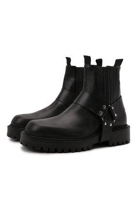 Мужские кожаные сапоги VIC MATIE черного цвета, арт. 1W3068U.W90W890101 | Фото 1 (Материал внутренний: Натуральная кожа; Подошва: Массивная; Мужское Кросс-КТ: Сапоги-обувь)