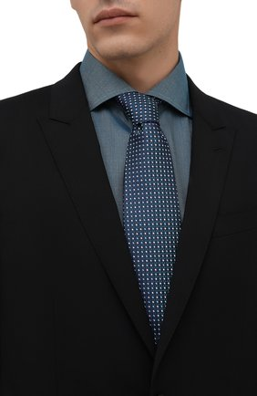 Мужской шелковый галстук ETON зеленого цвета, арт. A000 33081   Фото 2 (Материал: Шелк, Текстиль; Принт: С принтом)