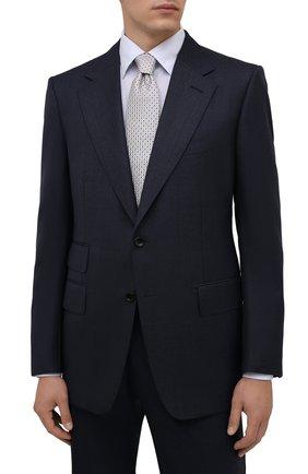 Мужской шелковый галстук ETON светло-серого цвета, арт. A000 33081   Фото 2 (Материал: Шелк, Текстиль; Принт: С принтом)