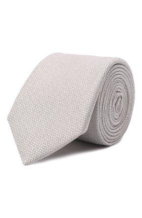 Мужской шелковый галстук ETON светло-серого цвета, арт. A000 32665   Фото 1 (Материал: Шелк, Текстиль; Принт: Без принта)