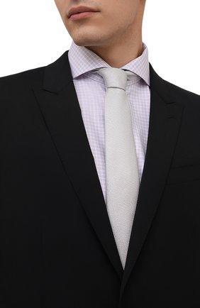 Мужской шелковый галстук ETON светло-серого цвета, арт. A000 32665   Фото 2 (Материал: Шелк, Текстиль; Принт: Без принта)