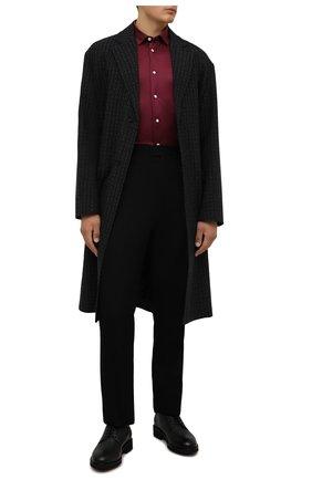 Мужская хлопковая рубашка ETON бордового цвета, арт. 1000 03099 | Фото 2 (Рукава: Длинные; Длина (для топов): Стандартные; Материал внешний: Хлопок; Случай: Повседневный; Принт: Однотонные; Рубашки М: Slim Fit; Манжеты: На пуговицах; Воротник: Кент; Стили: Кэжуэл)
