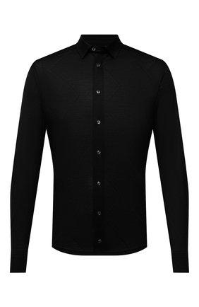 Мужская хлопковая рубашка ETON черного цвета, арт. 1000 03099 | Фото 1 (Материал внешний: Хлопок; Рукава: Длинные; Длина (для топов): Стандартные; Случай: Повседневный; Принт: Однотонные; Рубашки М: Slim Fit; Манжеты: На пуговицах; Воротник: Кент; Стили: Кэжуэл)