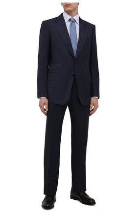 Мужская хлопковая сорочка ETON голубого цвета, арт. 1000 02560 | Фото 2 (Материал внешний: Хлопок; Рукава: Длинные; Длина (для топов): Стандартные; Случай: Формальный; Принт: Однотонные; Рубашки М: Regular Fit; Манжеты: На пуговицах; Воротник: Кент; Стили: Классический)
