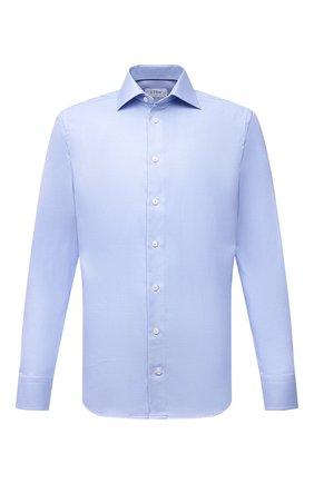 Мужская хлопковая сорочка ETON голубого цвета, арт. 1000 01700 | Фото 1 (Материал внешний: Хлопок; Рукава: Длинные; Длина (для топов): Стандартные; Случай: Формальный; Принт: Однотонные; Рубашки М: Slim Fit; Манжеты: На пуговицах; Воротник: Акула; Стили: Классический)