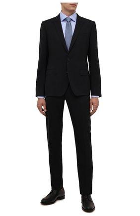Мужская хлопковая сорочка ETON голубого цвета, арт. 1000 01700 | Фото 2 (Материал внешний: Хлопок; Рукава: Длинные; Длина (для топов): Стандартные; Случай: Формальный; Принт: Однотонные; Рубашки М: Slim Fit; Манжеты: На пуговицах; Воротник: Акула; Стили: Классический)