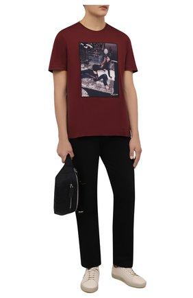 Мужская хлопковая футболка LIMITATO бордового цвета, арт. FILM TIME/T-SHIRT | Фото 2 (Материал внешний: Хлопок; Рукава: Короткие; Принт: С принтом; Длина (для топов): Стандартные)