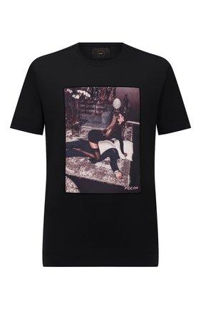 Мужская хлопковая футболка LIMITATO черного цвета, арт. FILM TIME/T-SHIRT | Фото 1 (Материал внешний: Хлопок; Рукава: Короткие; Принт: С принтом; Длина (для топов): Стандартные; Стили: Кэжуэл)