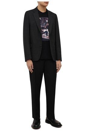 Мужская хлопковая футболка LIMITATO черного цвета, арт. FILM TIME/T-SHIRT | Фото 2 (Материал внешний: Хлопок; Рукава: Короткие; Принт: С принтом; Длина (для топов): Стандартные; Стили: Кэжуэл)