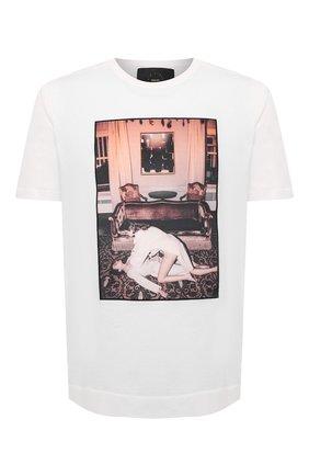 Мужская хлопковая футболка LIMITATO белого цвета, арт. CINEMA TIME/T-SHIRT | Фото 1 (Материал внешний: Хлопок; Рукава: Короткие; Длина (для топов): Стандартные)