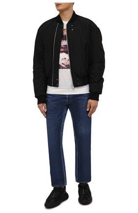 Мужская хлопковая футболка LIMITATO белого цвета, арт. CINEMA TIME/T-SHIRT | Фото 2 (Материал внешний: Хлопок; Рукава: Короткие; Длина (для топов): Стандартные)